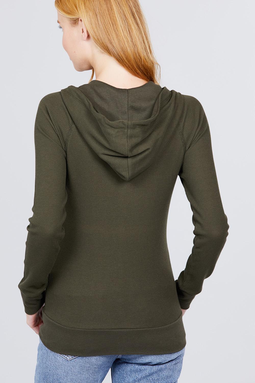 thumbnail 15 - Women's Basic Zip Up Hoodie Thermal Jacket Lightweight Pockets Drawstrings