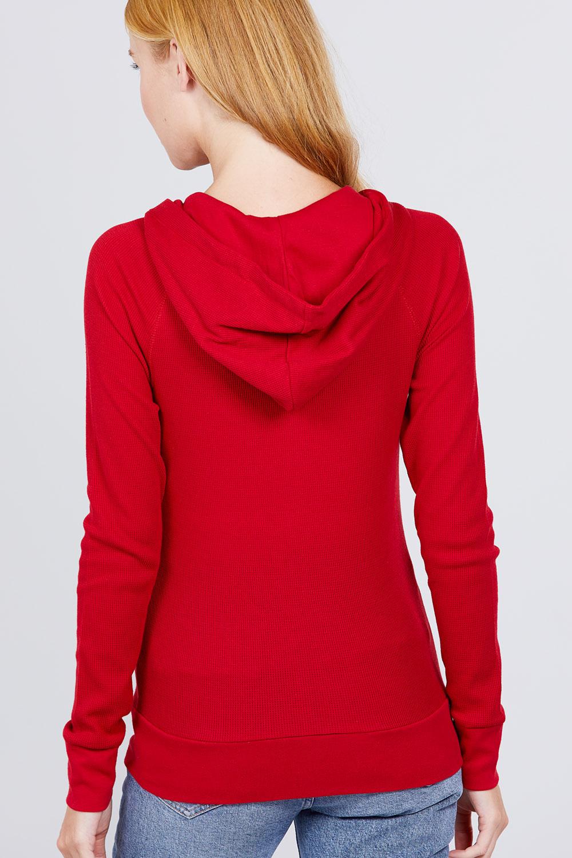 thumbnail 17 - Women's Basic Zip Up Hoodie Thermal Jacket Lightweight Pockets Drawstrings
