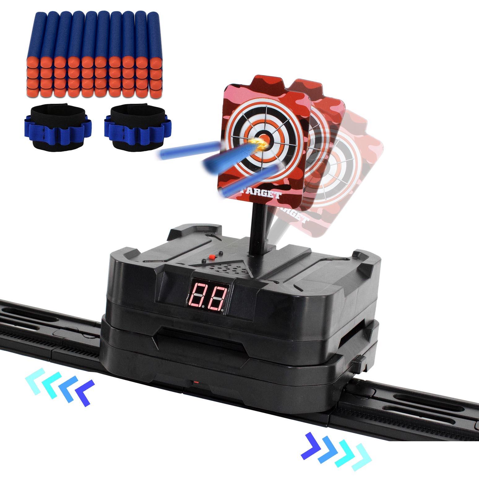 43pc Moving Electronic Target for Nerf N-Strike Guns, 40 Bullet Darts 2 Dart Guns & Soft Darts
