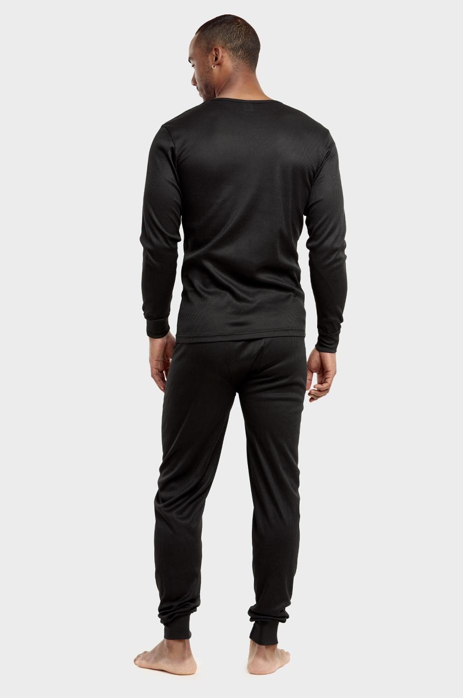 Men-039-s-Thermal-Long-Underwear-Top-Bottom-Medium-Weight-Waffle-Knit-Warm-Layering miniatuur 3