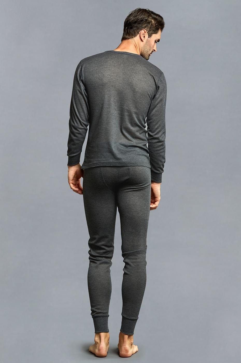 Men-039-s-Thermal-Long-Underwear-Top-Bottom-Medium-Weight-Waffle-Knit-Warm-Layering miniatuur 5
