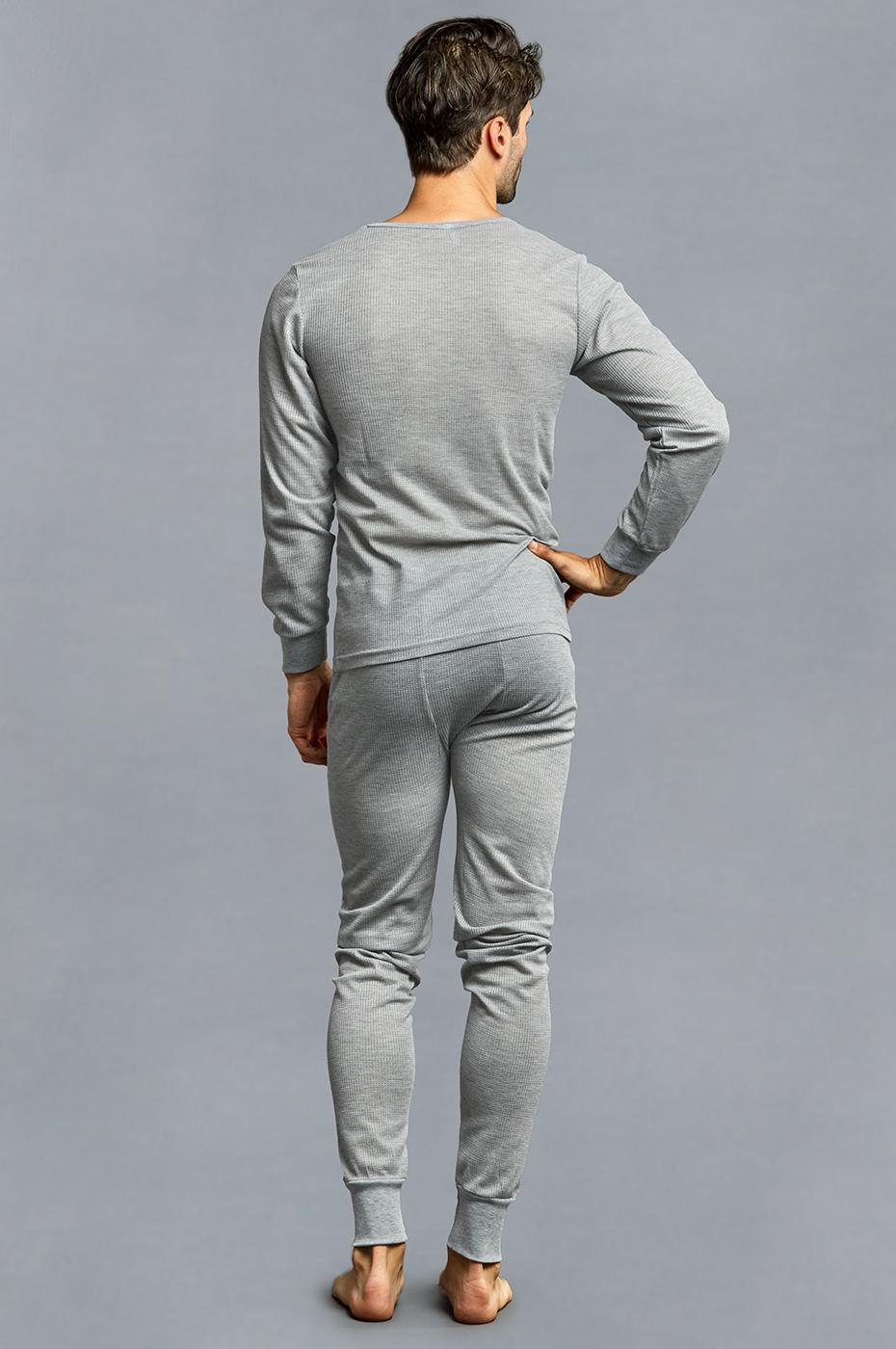 Men-039-s-Thermal-Long-Underwear-Top-Bottom-Medium-Weight-Waffle-Knit-Warm-Layering miniatuur 7