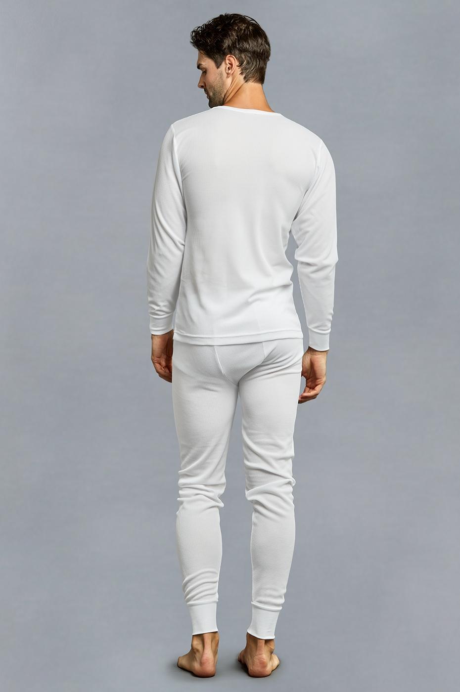 Men-039-s-Thermal-Long-Underwear-Top-Bottom-Medium-Weight-Waffle-Knit-Warm-Layering miniatuur 9
