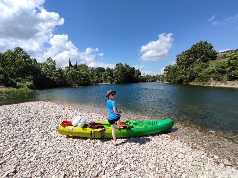 Canoeing under Pont du Gard
