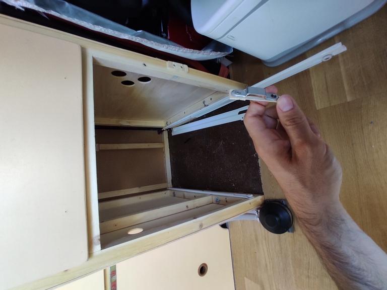 Broken fridge lock