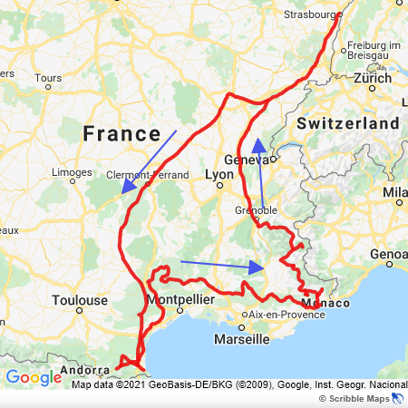 Map of our first trip