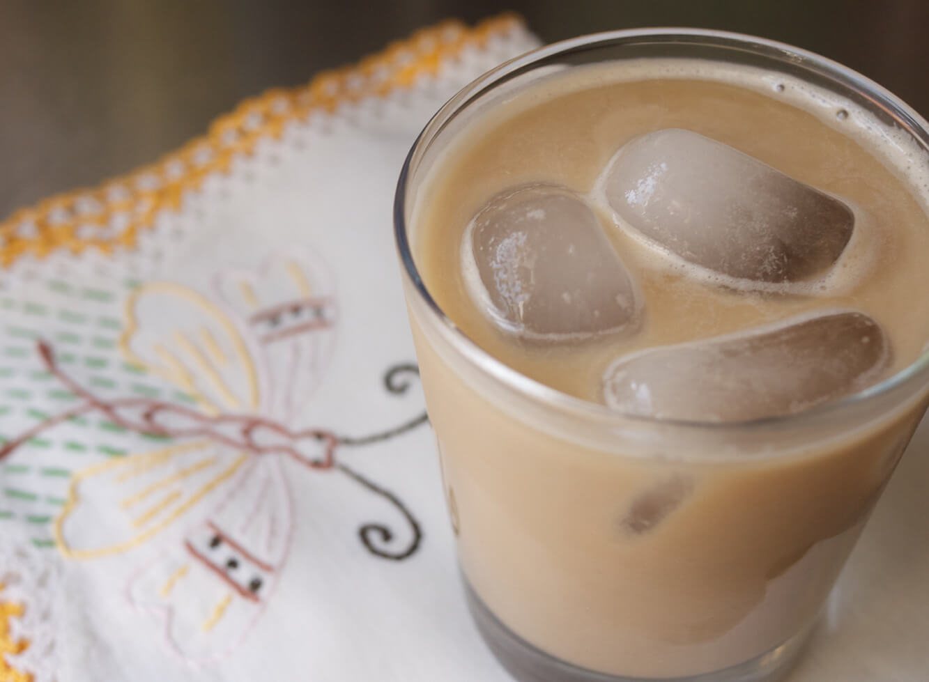 Coffee-Cinnamon Horchata (Almond-Rice Milk)