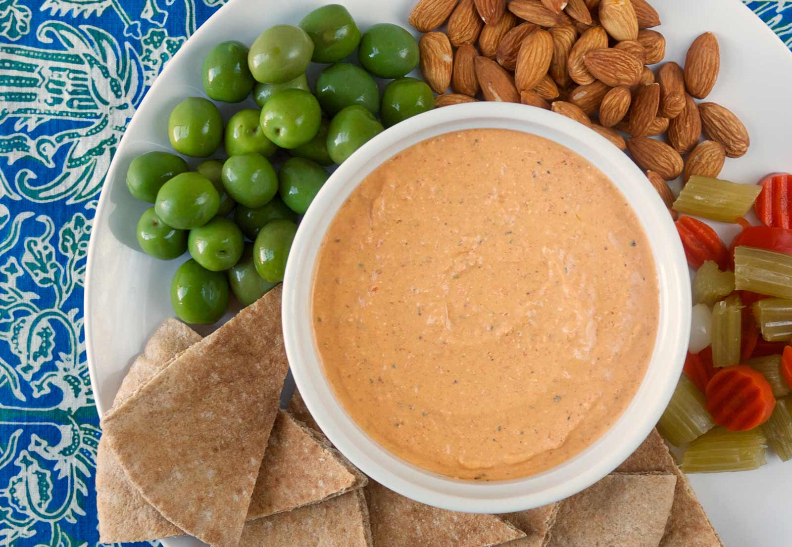 Four-Pepper Feta and Yogurt Dip