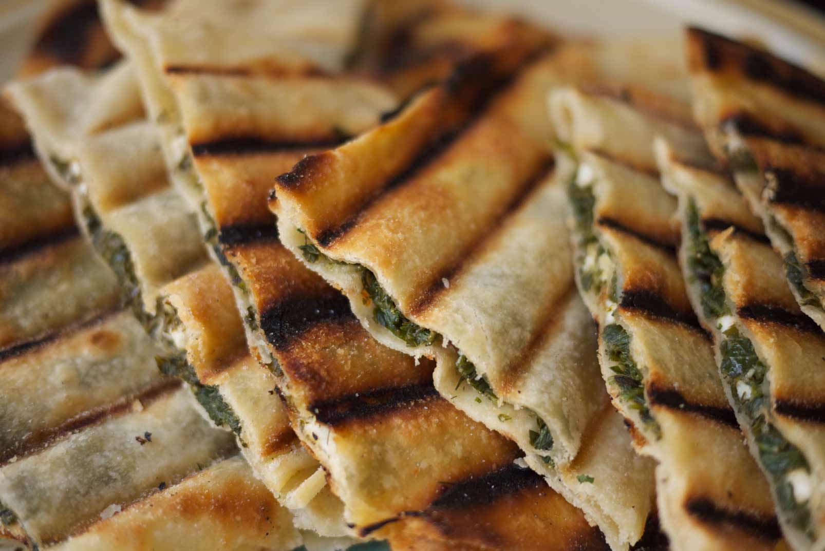 Greek Skillet Pies with Mustard Greens, Feta, and Herbs