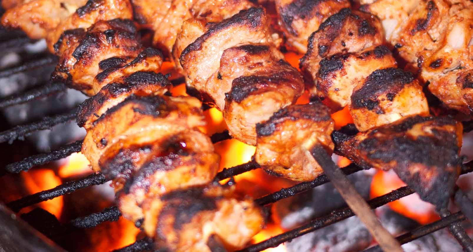 Smoky Chicken Tikka Masala Kebabs with Raita