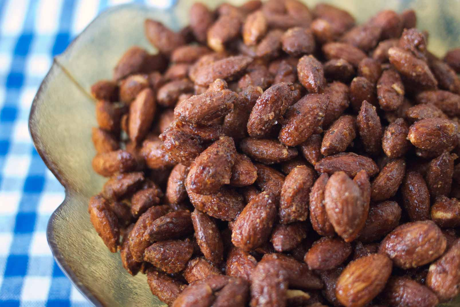 Smoky, Spiced Candied Almonds