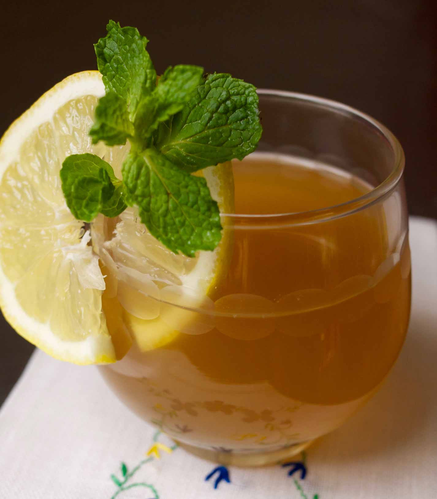 Spiced Mint Tea with Ginger and Lemon