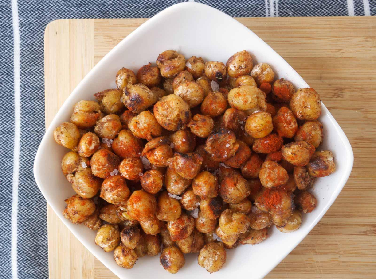 Spiced Popcorn Chickpeas