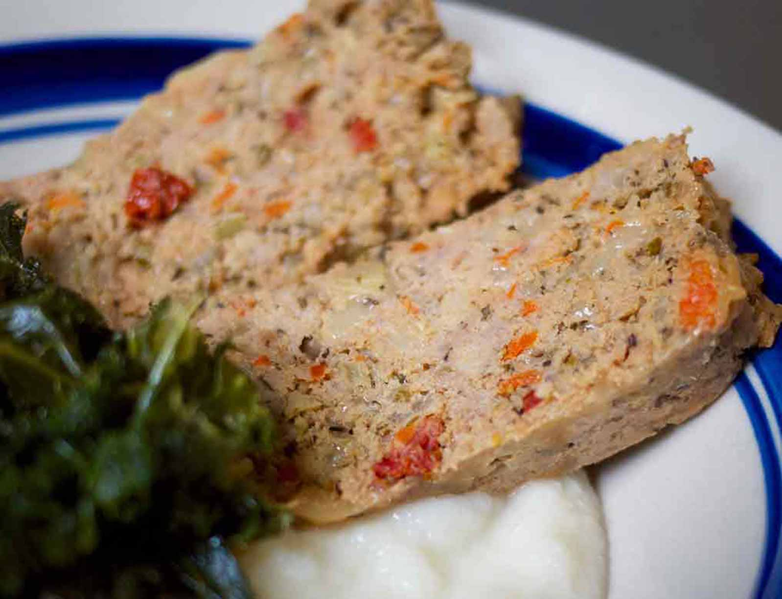 Turkey Meatloaf  With Herbs & Cheeses