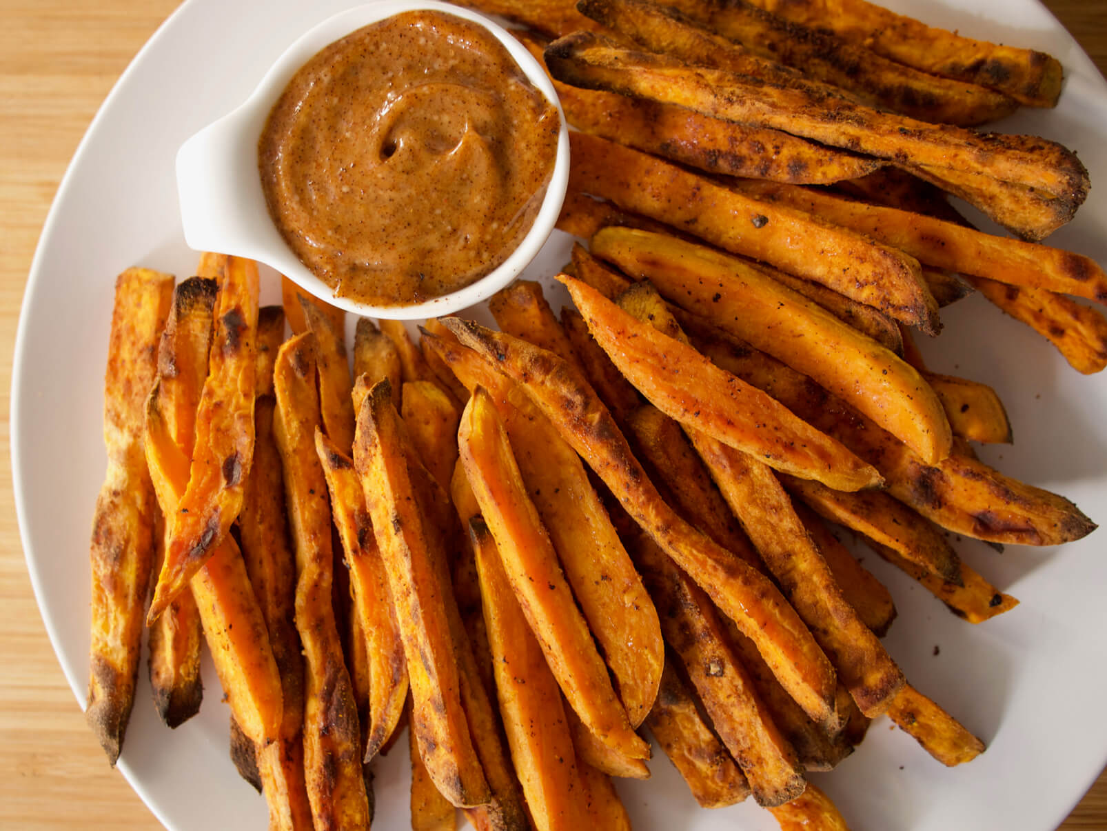 Baked Sweet Potato Fries with Chipotle Maple Aioli