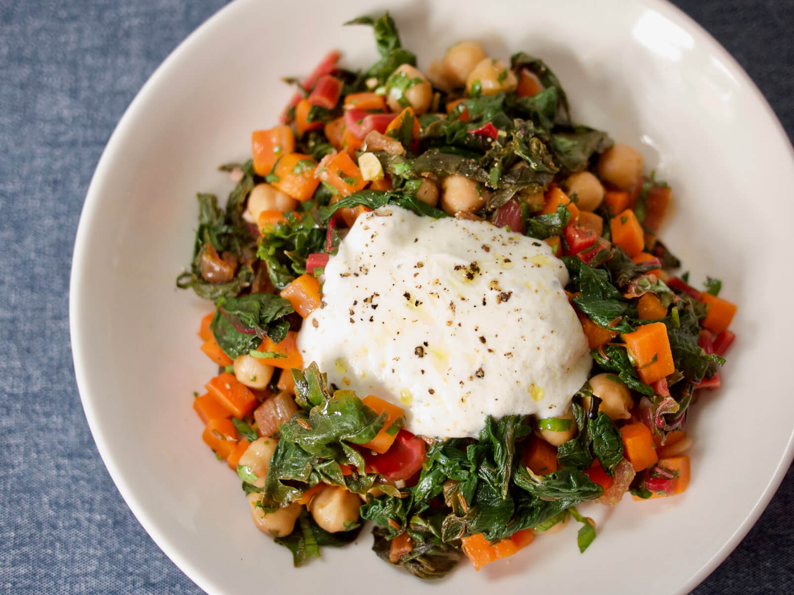 Chickpea, Chard, and Caraway Saute