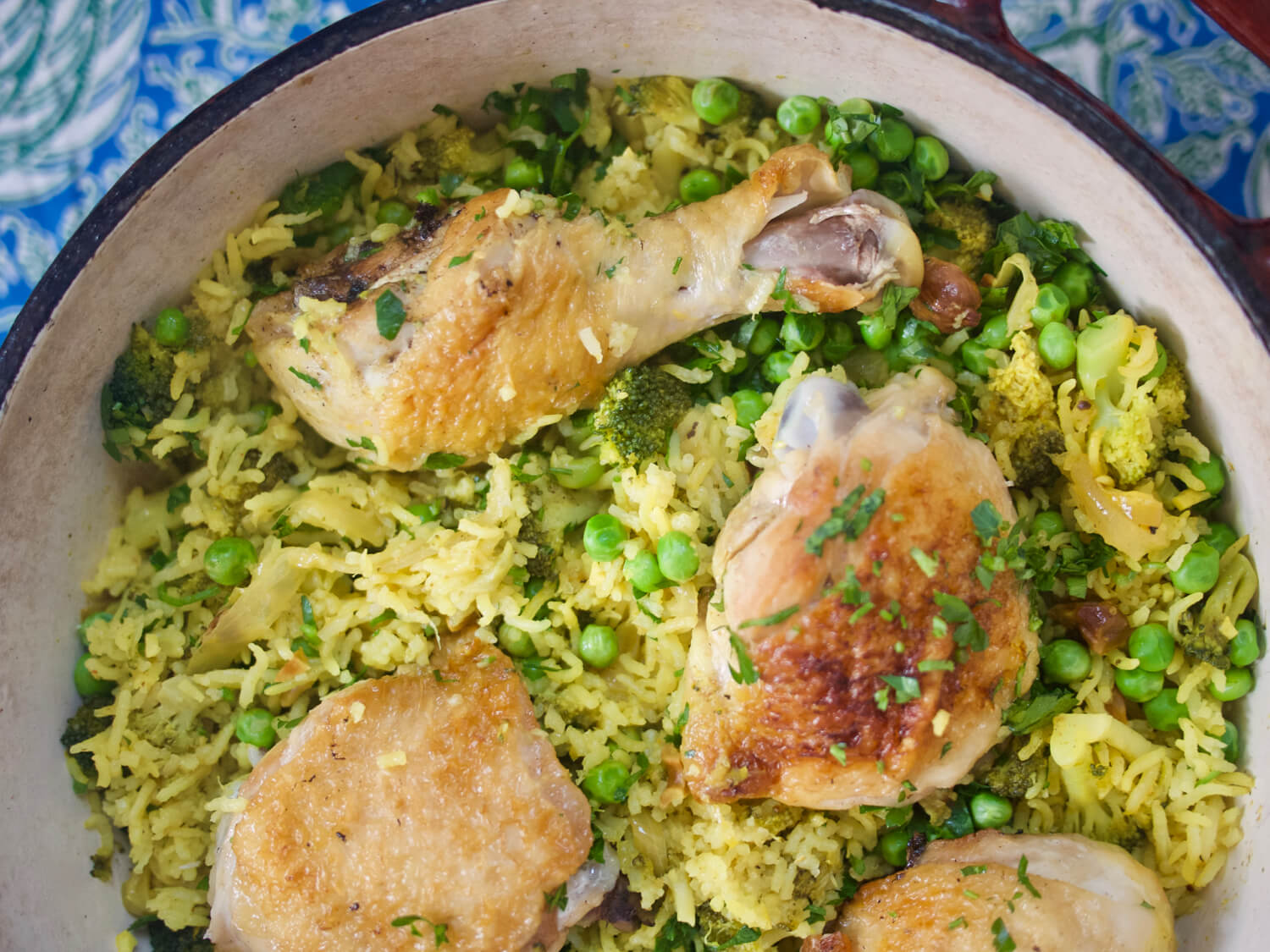 Lemony Chicken and Rice with Broccoli