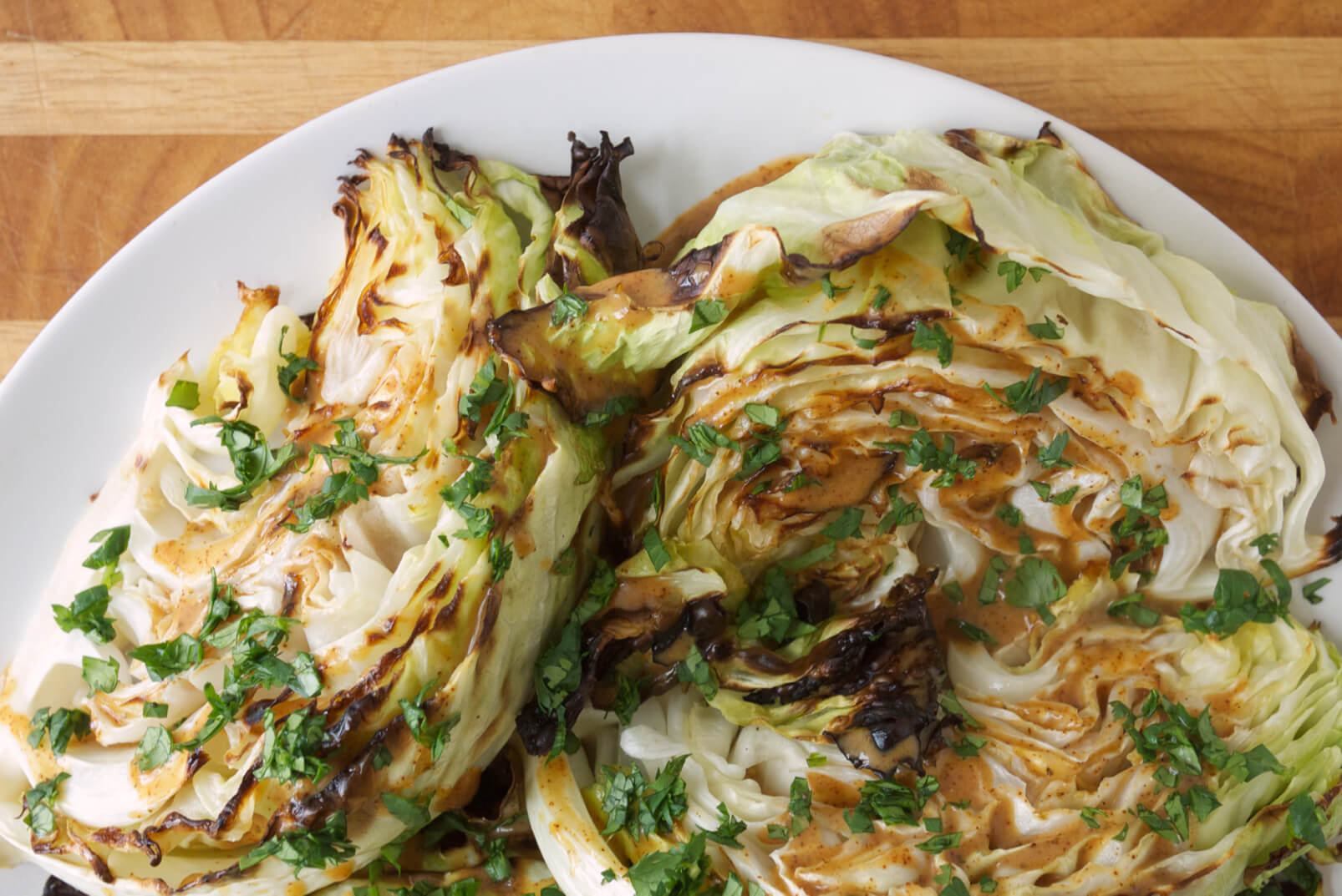 Warm Cabbage Salad with Chipotle-Lime-Honey Vinaigrette