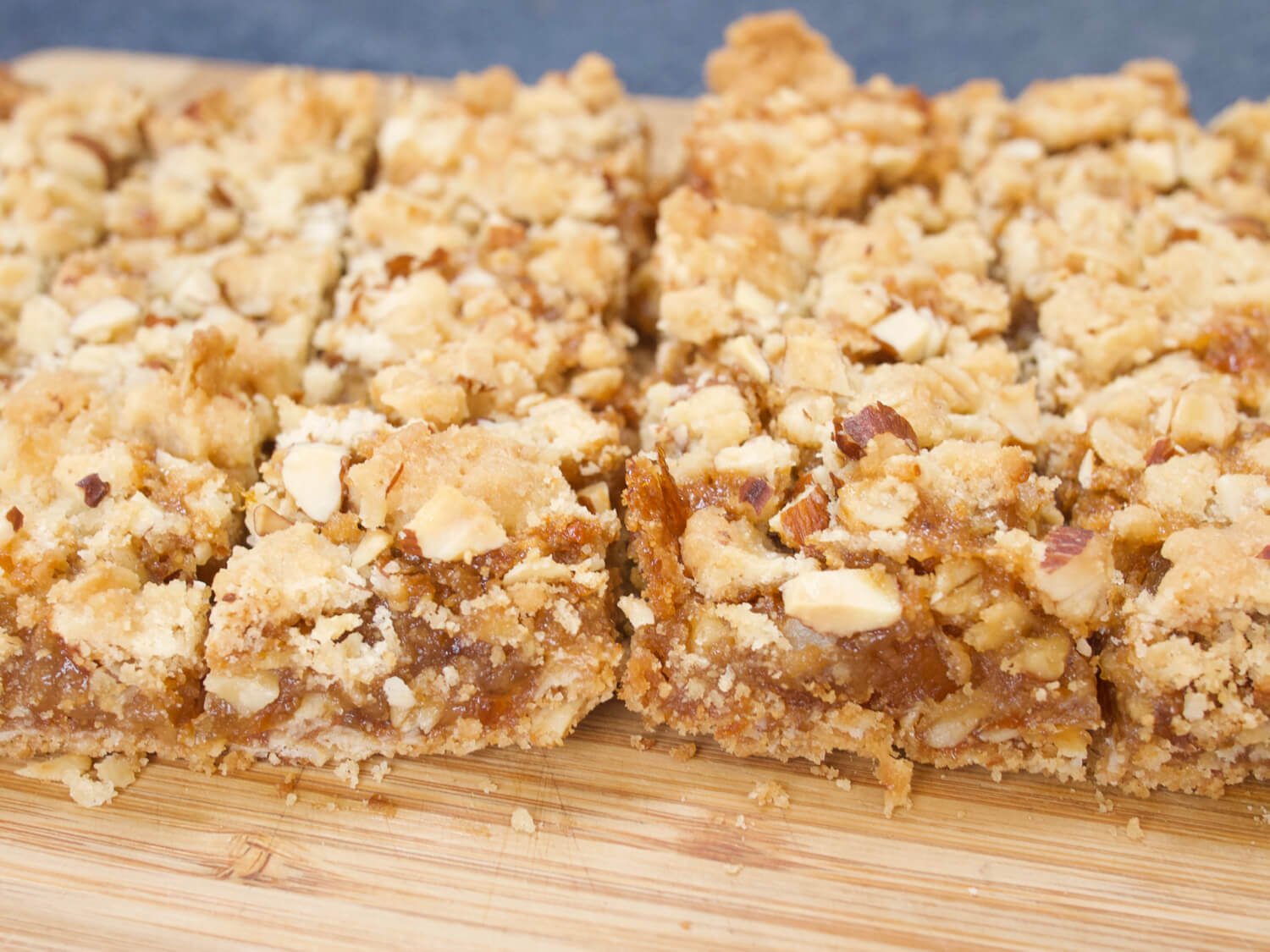 Almond Marmalade Crumble Bars