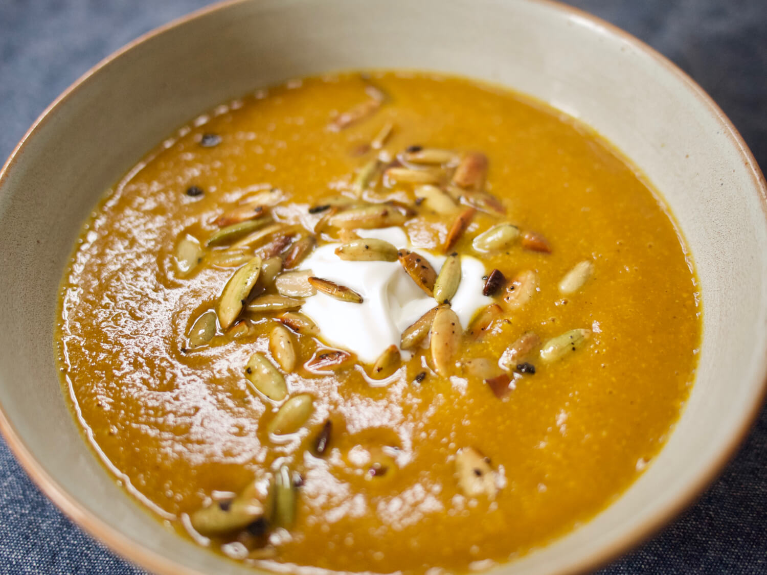 Pumpkin Soup with Ancho Chili and Apple