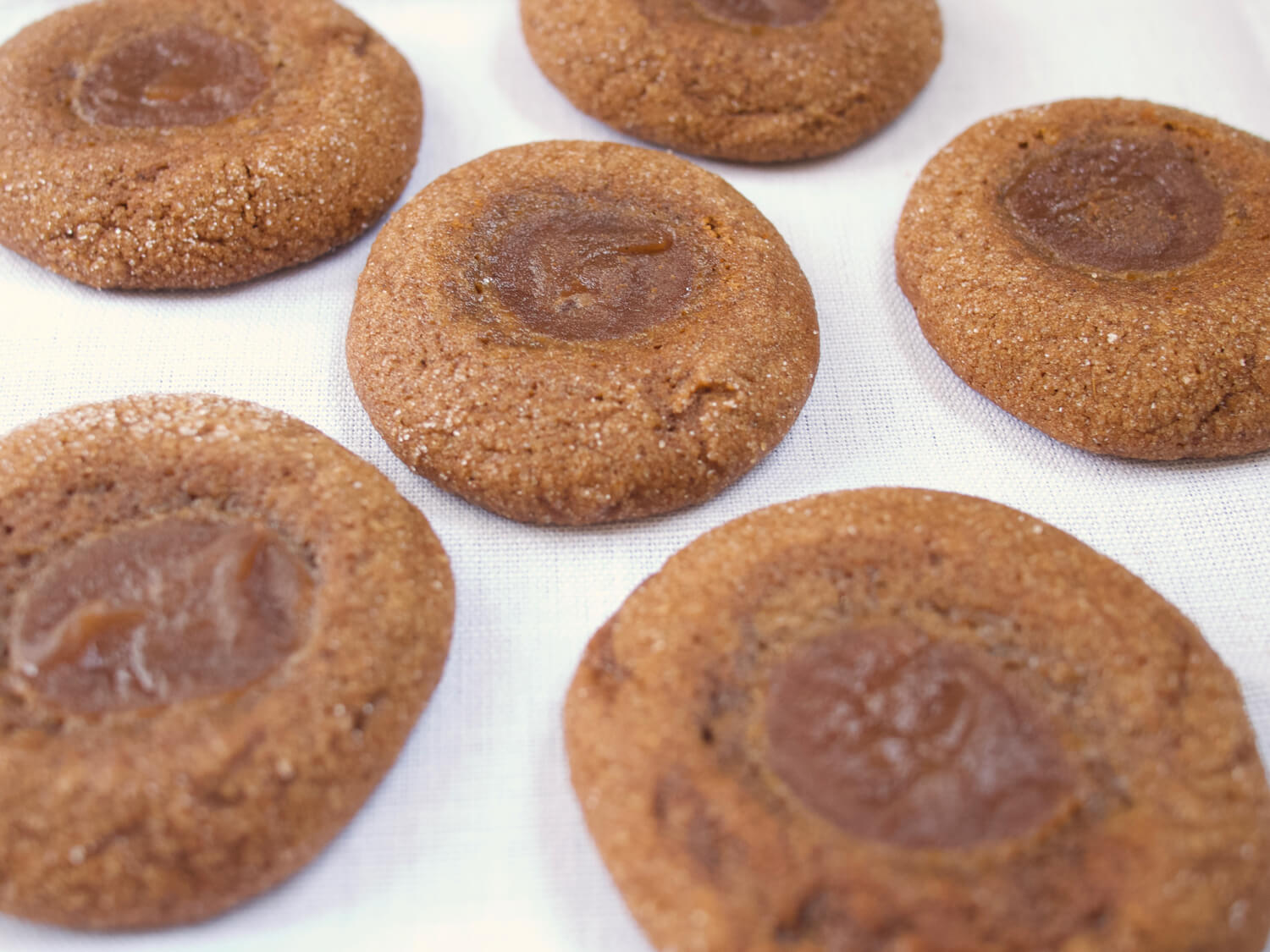 Gingerbread Apple Butter Thumbprint Cookies