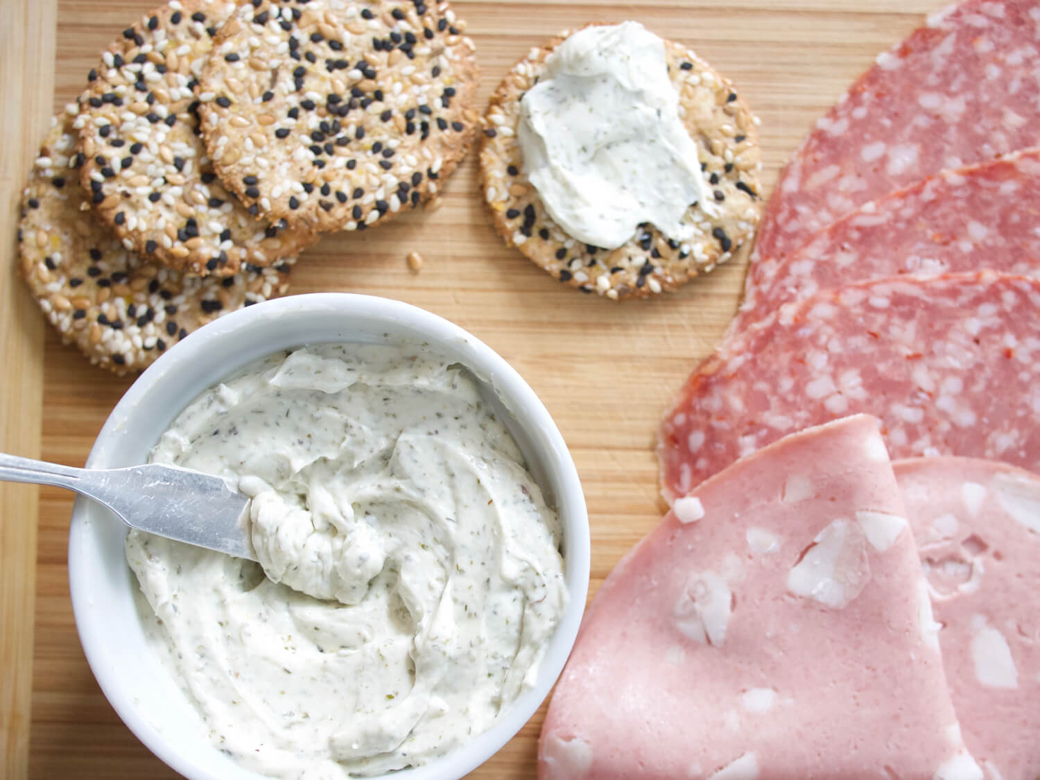 Spreadable Garlic and Herb Cheese