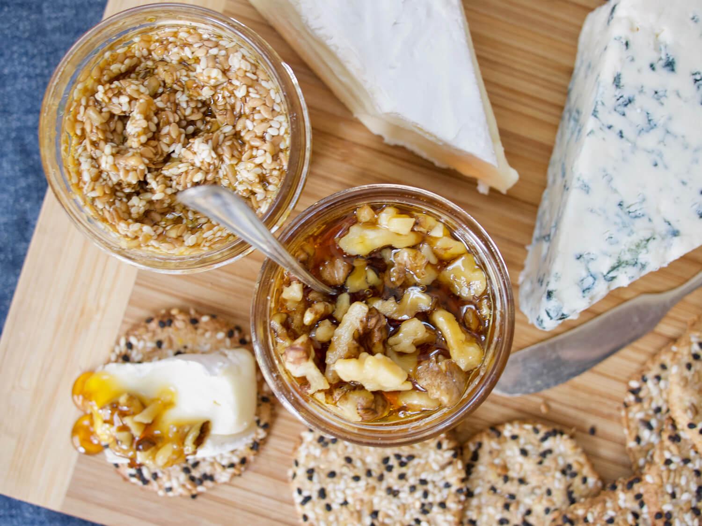Seeded and Walnut Honeys