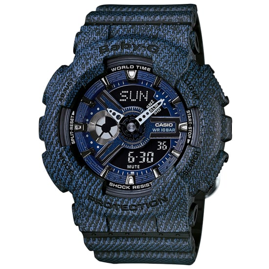 Casio Quarzuhr Damen blau