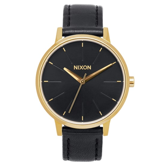 Nixon KENSINGTON LEATHER UHR Quarzuhr Damen schwarz