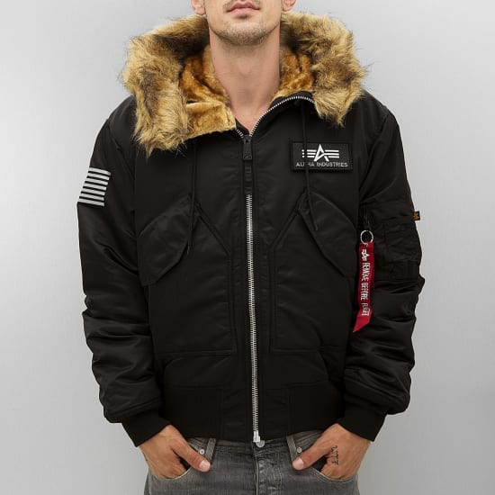 alpha industries 45p hooded custom bomber jacket. Black Bedroom Furniture Sets. Home Design Ideas
