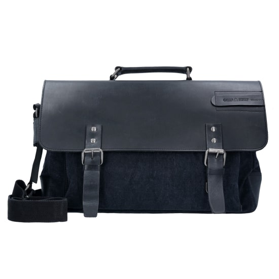 Greenburry BLACK SAILS MESSENGER BAG 45 CM LAPTOPFACH Herren schwarz
