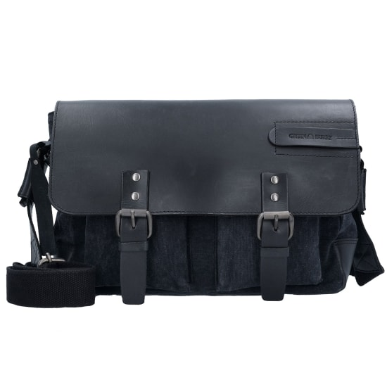 Greenburry BLACK SAILS MESSENGER BAG 36 CM TABLETFACH Herren schwarz
