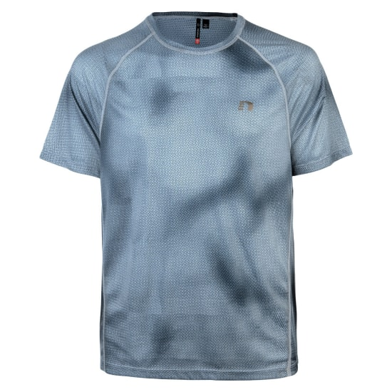 Newline Imotion Printed Light Tee Shirt de running Hommes gris
