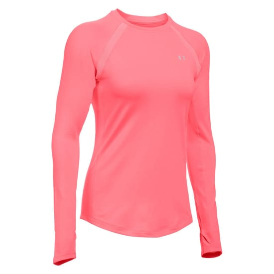 Under Armour Coldgear Armour Crew Shirt de fitness Femme rose