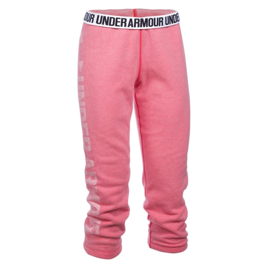 Under Armour Favorite Fleece Capri Pantalon running Femme rose