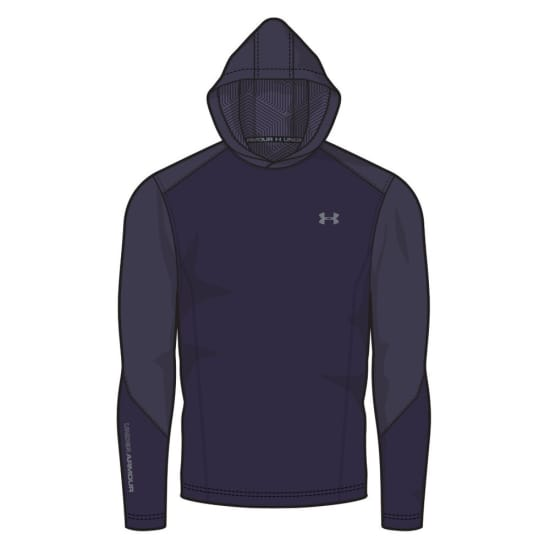 Under Armour Intl CGI Grid Po Hoody Pullover Hommes violet