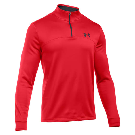Under Armour Armour Fleece Icon 1/4 Zip Shirt de running Hommes rouge