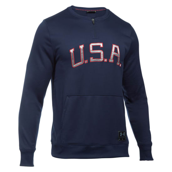 Under Armour USA Clay 1/4 Zip Crew Pullover Hommes violet