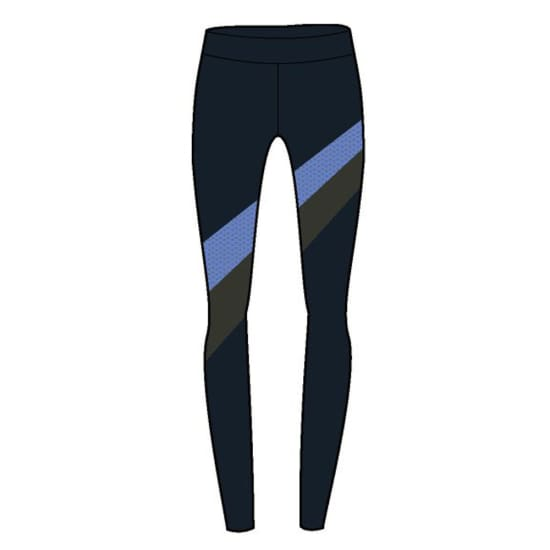 Under Armour Mirror Stripe Legging Collant de running Femme noir