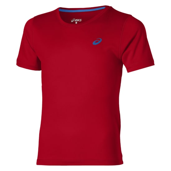 Asics Short Sleeve Top Shirt de running Enfants rouge