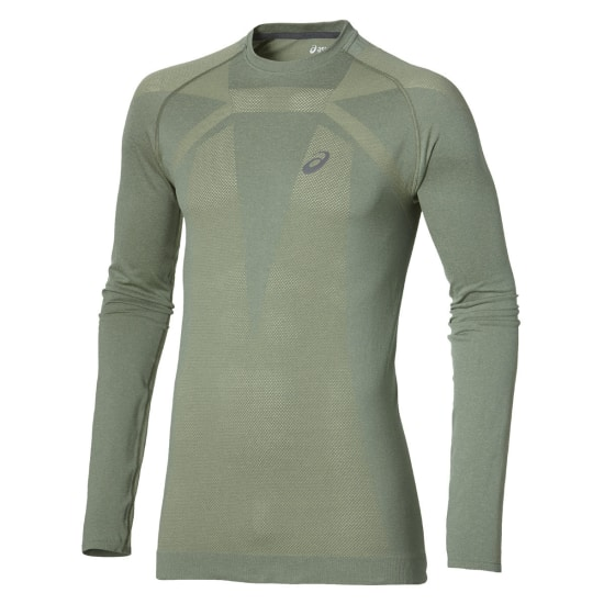 Asics Seamless Long Sleeve Shirt de running Hommes brun