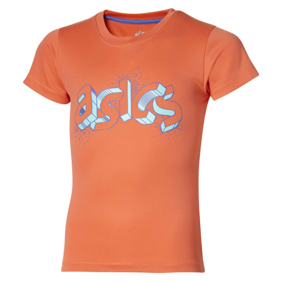Asics Short Sleeve Graphic Top Shirt de running Enfants orange
