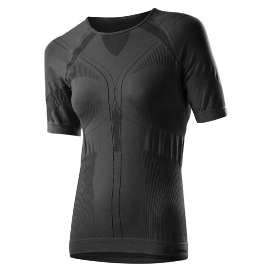 Löffler Transtex Warm Seamless Short Sleeve Vêtement fonctionnel Femme noir