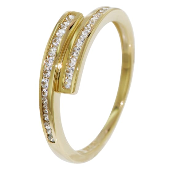 trendor ZIRKONIA RING Damen gold