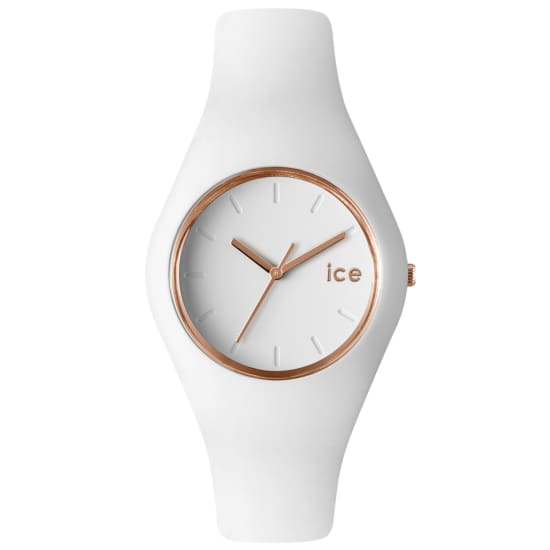 Ice-Watch GLAM WHITE ROSE-GOLD UHR Quarzuhr Damen weiß