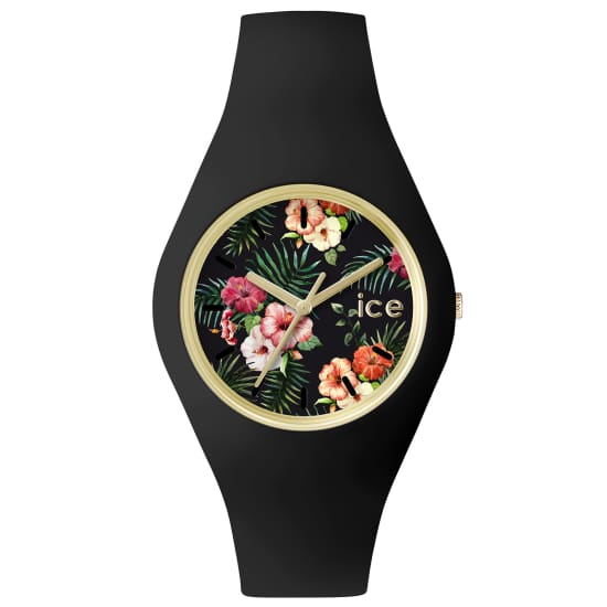 Ice-Watch ICE FLOWER COLONIAL UHR Quarzuhr Damen schwarz