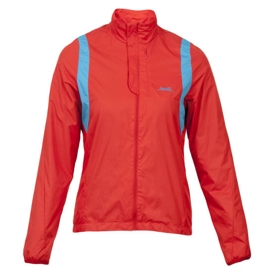 max-Q.com WINDPROOF ERGONOMIC RUNNING JACKET Damen rot