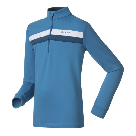 Odlo Stand-Up Collar 1/2 Zip Silver Star Shirt de running Enfants bleu