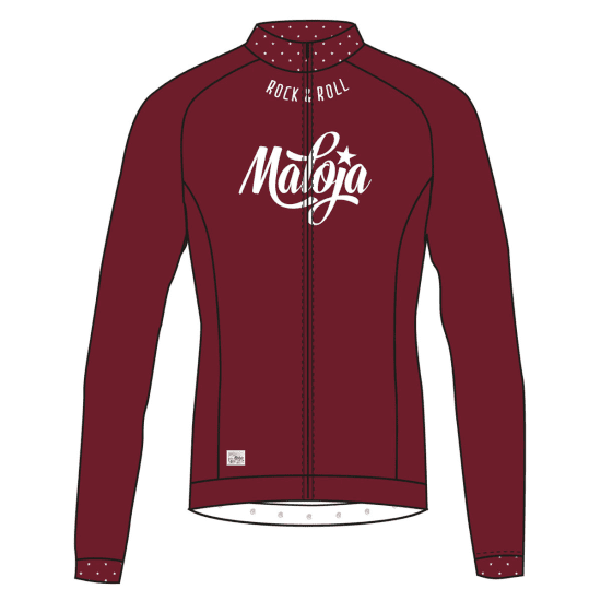 Maloja HOLLYM. LONG SLEEVE BIKE JERSEY Longsleeve Damen rot