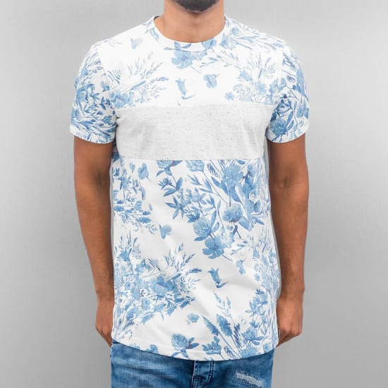 Just Rhyse FLOWER T-Shirt Herren blau